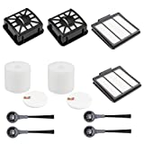 TATX 2 Hepa Filters&2 Dust Base Filters&2 Foam Filters&4 Side Brushes Compatible with Shark IQ Robot R101AE RV1001AE IQ R101 UR1005AE Vacuum Self-Empty Base, Compare to Part # 106KY1000AE.