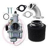 bibididi Carburador Vm22 26Mm para Tubo de admisión Pit Dirt Bike 110Cc 125Cc 140Cc Lifan Bike, cortacésped eléctrico