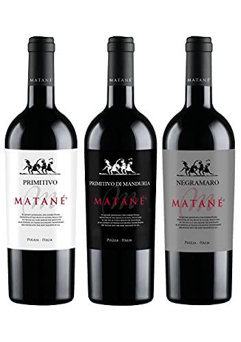 Cassa mista vini rossi - Negramaro, Primitivo, Primitivo di Manduria – 3 Bottiglie – 0,75L