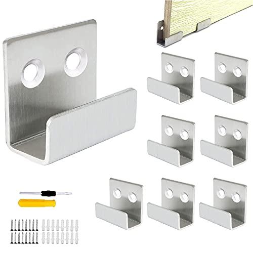 GZjiyu - 8 ganchos para guardarropa, acero inoxidable, resistentes, para baño, cocina, cocina, azulejos, cerámica, expositor con 16 tornillos, 16 tubos de expansión y 1 destornillador