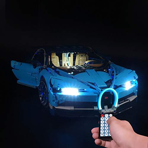 LODIY Beleuchtung Lichtset für Lego 42083 Technic Bugatti Chiron , LED Beleuchtungsset Kompatibel mit Lego 42083 (Nicht Enthalten Lego Modell) (Mit Fernbedienung)