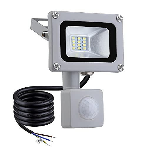 Proyector LED Luces De Seguridad 220V-240V IP65 Impermeable PIR Sensor De Movimiento Lámpara De Pared Exterior Iluminación De Paisaje para Jardín, Patio Trasero, Garajes