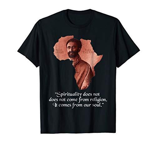Haile Selassie Jah Rastafari - Rastafarian T-Shirt