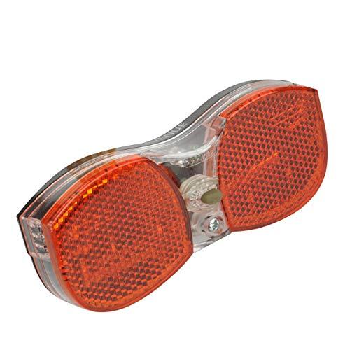 FISCHER Unisex Led-rückleuchte Gepäckträger Batterie Led r ckleuchte gep cktr ger , orange, Einheitsgröße EU