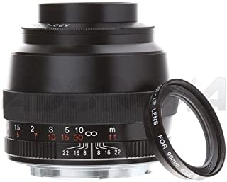 Voigtlander 90mm f/3.5 SL II Apo-Lanthar, CPU Integrated, Manual Close Focus Lens, Black, with Hood and Close-up Lens, for Canon EOS Mount Cameras