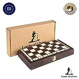 Amazinggirl Schachspiel Schach Holz Schachbrett - Chess Set für Kinder hochwertig groß klappbar mit Figuren (26X26, Schach)