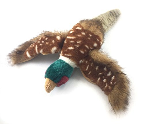 Sancho & Lola's Pheasant Dog Toy for Interactive Play and Training, Medium, Plush, Multicolored - Supporting Dog Rescue Since 2015