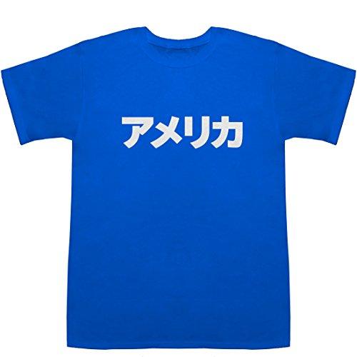 アメリカ America T-shirts ブルー S【アメリカ 州】【アメリカ 地図】