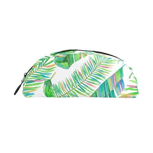 Federmäppchen, bunt, tropische Palmenblätter, Dschungel-Pflanzenstifte mit Reißverschluss, Make-up für Mädchen und Jungen
