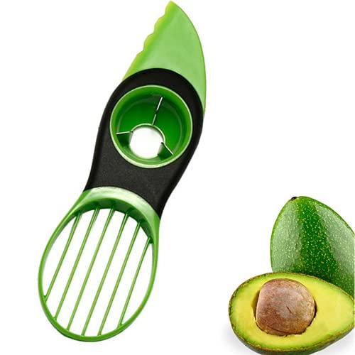 Avocado Cutter Slicer,3 in 1 Avocado Slicer,Multifunctional Avocado Peeler...