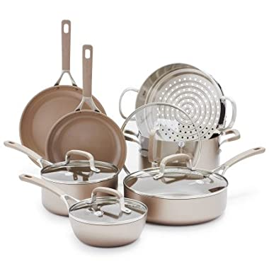 GreenPan Champagne Ceramic Nonstick 11-Piece Cookware Set