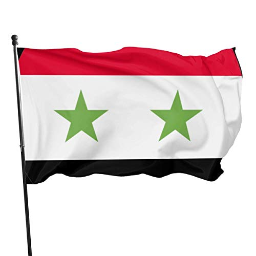 Oaqueen Flagge/Fahne 3x5 Feet Syria - Vivid Color and UV Fade Resistant - Fahnen Flaggen
