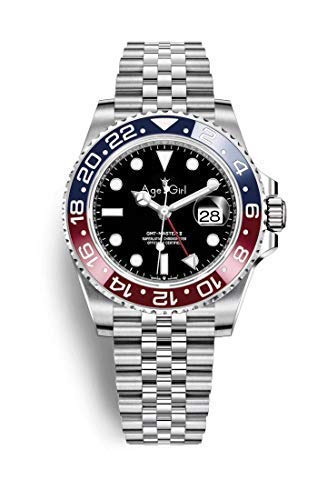 GMT Ceramic Red Blue Bezel Men Mechanical Stainless Steel Automatic ETA2813 Pepsi Jubilee Bracelet Master Batman Watches (Blue Red J)