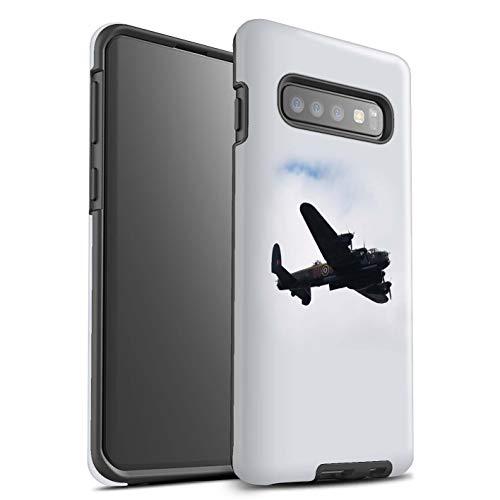 Stuff4® glanzende harde schokbestendige hoes/case voor Samsung Galaxy S10/Avro Lancaster bomberpatroon/historische vliegtuigen 2. Wereldkrijgcollectie.