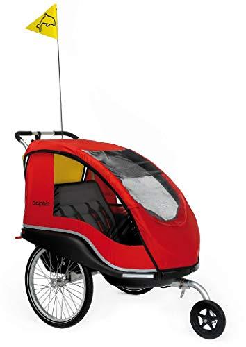 Unbekannt Fahrradanhänger Dolphin XL rot/inkl. Weberkupplung + Buggyrad/Sitzfläche: 20 x 54 cm; Kopffreiheit 75 cm/Gewicht: 13,3 kg