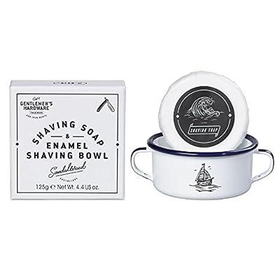 Gentlemen's Hardware Enamel Shaving Bowl and Soap by Wild & Wolf