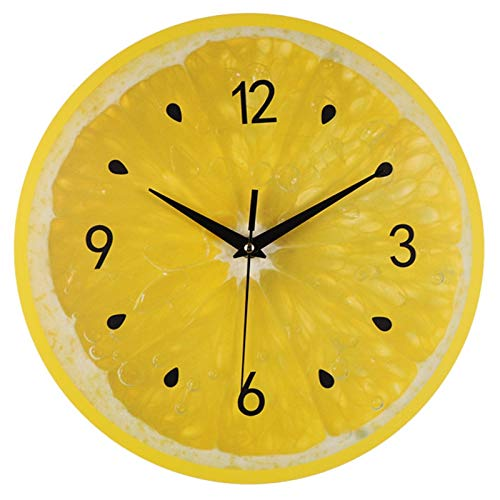 Nrpfell Reloj de Pared de Fruta de LimóN Relojes de Cocina Moderna Lima Reloj de Sala de DecoracióN del Hogar Reloj de Arte de Pared de Frutas Tropicales