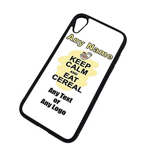Gepersonaliseerd geschenk - Houd kalm eten Cereal iPhone Xs / Xs Max / XR Case (Voedsel Design) Elke Naam Bericht Unieke Apple TPU Cover - Draag Poster Party Dieet Snack Cake Chocolade Chips Fruit Cream Veg Pizza