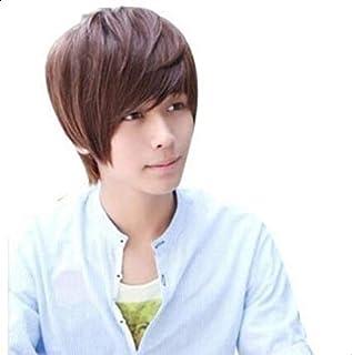 Man short wigs Fashion Hairstyle F68 brown