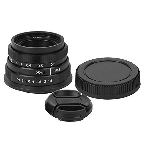Bigking Obiettivo focale Fisso, 25mm f1.8 EOSM Mount Manual Portrait Obiettivo focale Fisso per Canon M50 M100 M200 M6 Mirrorless Camera