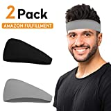 COOLOO Mens Headband, Guys Sweatband, Sports Head Band for Working Out, Running, Yoga, Dominating Your Competition Performance Stretch & Moisture Wicking for Men Women Unisex Gym Fits All