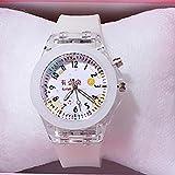 Uhr Mode Nette Kinderuhr Mit Elektronischer Farbe Lichtquelle Mädchen Geschenkuhren Kinderhandschuh Kinderuhr Weiß