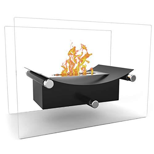 Elite Flame Arkon Ventless Indoor Outdoor Fire Pit Tabletop Portable...