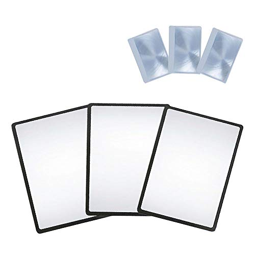 MagDepo Magnifying Sheet 3 Pack 3X PVC Lightweight Page Size with 3 Bonus Card Magnifier, Magnifying Glass for Reading Small Patterns, Maps and Books