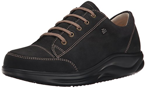 Finn Comfort Women's Ikebukuro Oxford,Black Rodeobuk,10.5 M US/ 8 UK