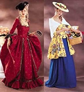 Butterick Making History Pattern 3640 ~ 1700s Gown and Shepherdess Dress Costumes ~ 6-8-10