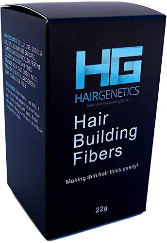 Hair Genetics Advanced Keratin Hair Building Fibres Large 22g Dispenser, Natural, Thick & Textured, Save Money, Professional Quality Fiber, Hair Loss Concealer Fibers For use by Men and Women (Grey)