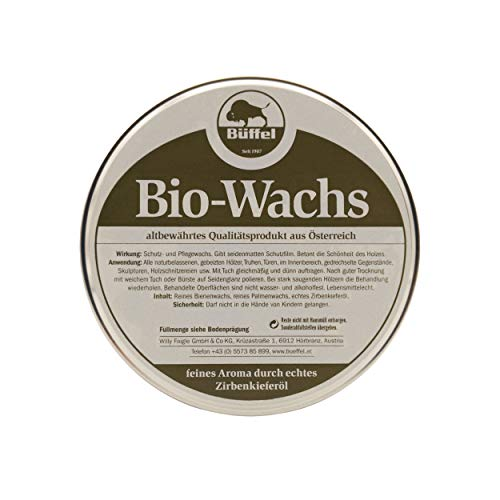 Büffel Bio-Wachs 250ml | mit Zirbenöl | mit Zirberlkieferöl und Bienenwachs | für Hölzer im Innenbereich