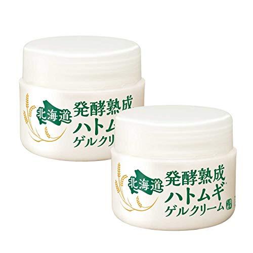 北海道 発酵熟成ハトムギゲルクリーム 200g[ 100g ×2個セット]保湿 オールインワン( 熟成プラセンタ配合 )
