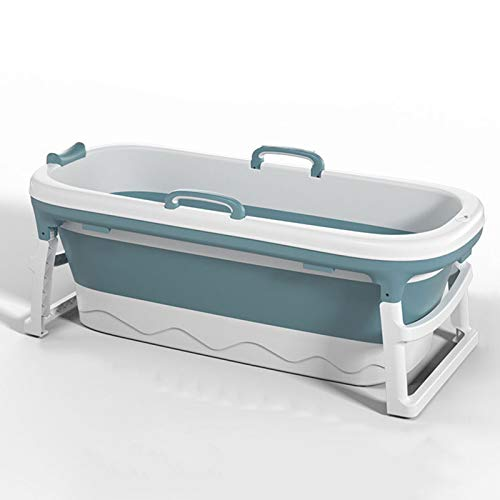 Bañera para Adultos, bañera portátil, bañera de Vapor de Cubo, bañera Plegable, bañera móvil para Adultos, bañera Plegable Plegable, Sauna de la casa,Azul