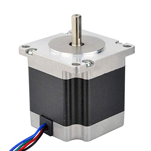 WSCHENG 0.9 Deg Nema 23 Stepper Motor Bipolar 1.26Nm(178.4oz.in) 2.8A 57x57x56mm 4 Wires For CNC Router Kits