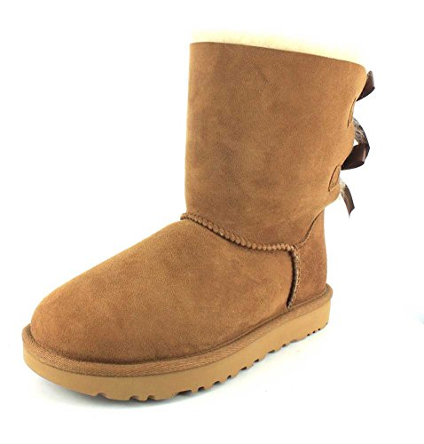 UGG Female Bailey Bow II Classic Boot, Chestnut, 6 (UK)