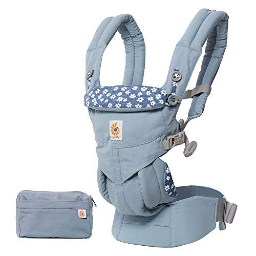 Ergobaby Babytrage 4 Positionen Omni 360, Bauchtrage Rückentrage (Blue Daisy)