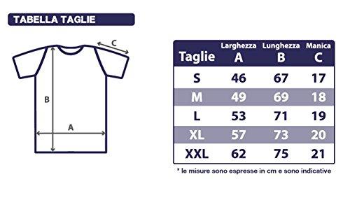 thedifferent T-Shirt Uomo Maglia Dante Alighieri Citazione Divertente Inferno - Bianco (M)