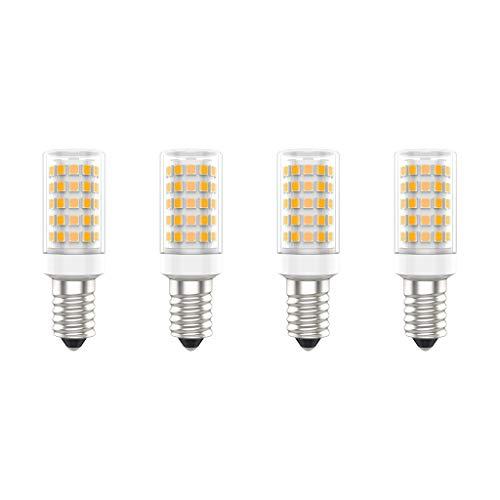 Lampadine a LED E14, 7W (Equivalente a 70W), Bianco Caldo (3000K), AC220-240V, Senza Sfarfallio, Non Dimmerabile, 700 Lumens, CRI80, Pacco da 4 - (Bianco Caldo, 7W)