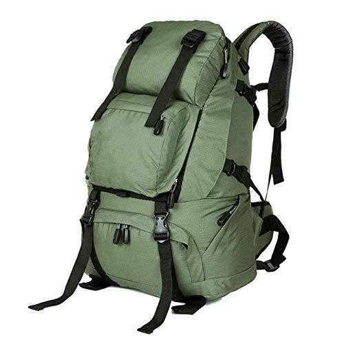AINY Sac À Dos De Randonnée, 36-55L Trekking Rucksack Waterproof Outdoor Climbing Camping Mountaineering Daypack Travel Laptop Bag for Men Women,Vert