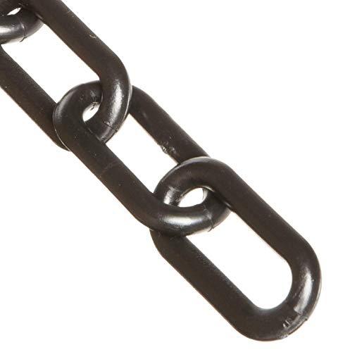 Mr. Chain Plastic Barrier Chain, Black, 3-Inch Link Diameter, 100-Foot Length (80003-100)