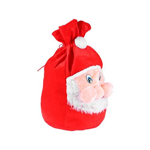 SOIMISS Bolsas de Navidad con Cordn Bolsa de Santa Claus en 3D Bolsa de Caramelos Accesorio de Disfraz de Pap Noel Decoraciones Navideas de Navidad