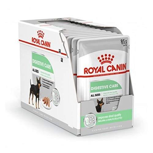ROYAL CANIN Digestive Care Paté para Perros Comida Húmeda, Caja Completa 12 x Sobres 85 gr ⭐