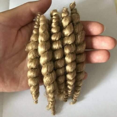 Reborn Doll Supplies Premium Curly Blonde Mohair 20g Look Real Baby Hair