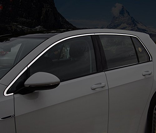 Preisvergleich Produktbild Seiten Fenster Obere Chrom Zierleisten Edelstahl Verchromt 6 Stück für Golf Fünftürer VII 7 2013-2019 (Nur für Fünftürer)