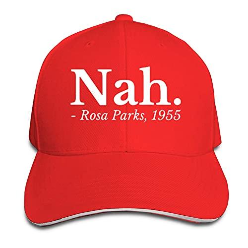 XCNGG Nah Rosa Parks - Gorra Tipo sándwich para Hombre, University, Gorra Unisex Ajustable para niños, Divertida