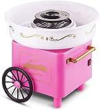 Tianbi Cotton Candy Machine Nostalgia, Mini Cotton Candy Floss Maker Machine Retro Pink Cotton Candy Maker for...