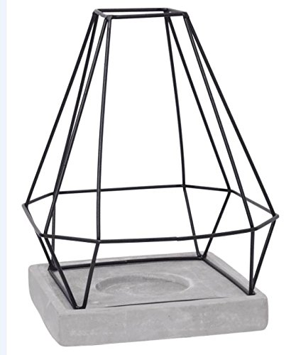 Hosley Geo Metal Decor LED Candle Holder Lantern 11 Inches High Mid Century Modern Ideal Gift for Weddings Farmhouse Parties Special Events Spa Aromatherapy Votive Tealight Gardens O9