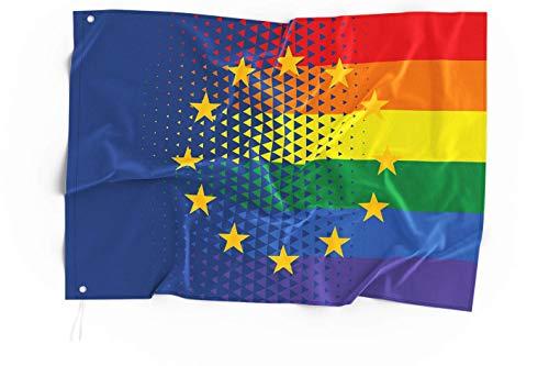 Europa Regenbogen CSD- und Pride-Flagge