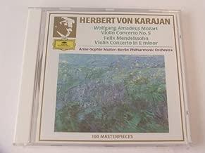 Anne-Sophie Mutter. Mozart Violin Concerto No 5, Mendelssohn Violin Concerto (DG)